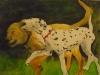 cani-che-giocano-acquerello-35x50