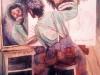 omaggio-a-rockwell-autoritratto-allo-specchio-acquerello-35x50