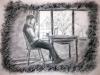 pensieri di inchiostro, carboncino. 50x35